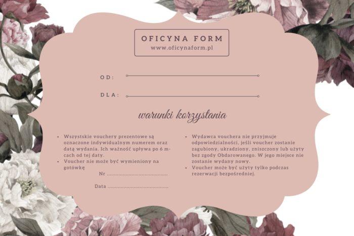 voucher prezezentowy Oficyna Form